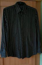 Thomas Nash Mens Black & Grey Stripe Shirt M