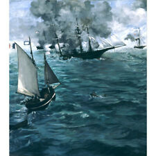Wooden Jigsaw Puzzle 500 PCS Battle of the Kearsarge & Alabama Edouard Manet
