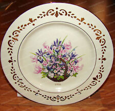 Lenox First Colony Colonial Bouquet Plate (1996) 24K, Massachusetts