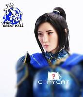 "1/6 Female Sculpt Jing Tian Planted Hair Head the Great Wall Fit 12"" Figure Toy"