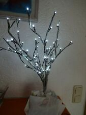 LED Wegelichte 3 Bäume Set 75x45cm 48 LEDs braun