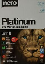 Nero Platinum 2019 - 6in1 - Box -  Vollversion Brennprogramm