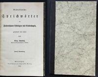 1863 Niederdeutsche Sprichwörter Göttingen Grubenhagen Plattdeutsch Niedersachse