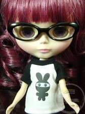 "Releaserain Doll Glasses Black Frame Clear Eyeglasses #A2 For 12"" Blythe Dolls"