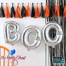 SILVER BOO HALLOWEEN BALLOON BUNTING Halloween Party Banner Decoration Kit PU319