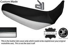 BLACK & WHITE CUSTOM FITS YAMAHA XT 660 R 04-17 DUAL LEATHER SEAT COVER