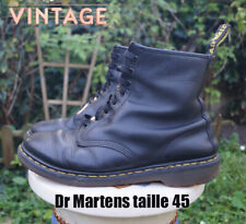 Docs Dr MARTENS taille 45 UK10 cuir noir BE 1460 Made in England
