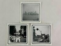 New York City Bridge Gate Chinatown Vintage B&W Photograph Snapshot 3.5 x 3.5