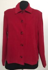 Briggs New York Petite-Brick Red-Top Blouse Shirt Jacket-PS-Button-Ultrasuede