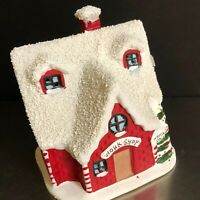 Rudolph Movie Xmas Votive House Ceramic Candle Holder Holiday Miniature Village