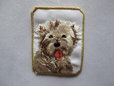 "3008 2-1/8""x2-3/4""Bichon Frise Head Portrait Dog Breed Embroidery Applique Patch"