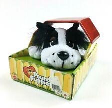 Mattel 2005 Pound Puppies Black And White Plush Mini Stuffed Animal Dog