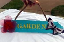 HANDMADE Garden Sign Handpainted Arrow Sign w/ Hanger