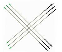 6pcs Fishing Arrows White Fiberglass Outdoor Bow Fishing Hunting Shoot Broadhead