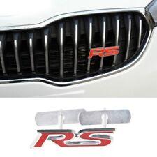 Metal RS Emblem Badge Decal Sticker For Ford Focus Chevrolet Kia Rio Skoda