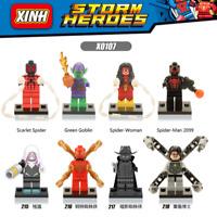 Bausteine Figur Superhero Spiderman Kind Modell Spielzeug Marvel's Avengers 8PCS