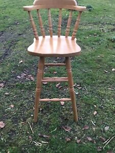 Pine pine effect tall  counter wooden kitchen chair Collection only