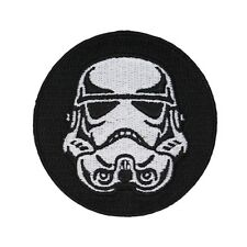 Storm Trooper Helmet Patch Star Wars Imperial Soldier Badge Iron-On Applique