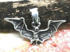 Bat Pendant 925 Sterling Silver Gothic Vampire Medieval Bat