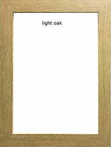 Light Oak Photo Picture Poster Frame Wooden Effect In Various Sizes