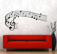 Wall Vinyl Music Notes Clef Rock Pop Song Singing Guaranteed Quality Decal z3535
