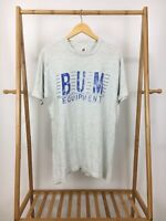 VTG 1993 Bum Equipment Men's Short Sleeve Heather Gray T-Shirt Size L USA