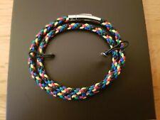 BNIB - TATEOSSIAN - Mens Multicoloured Scoubidou Double Wrap BRACELET RRP £99.00