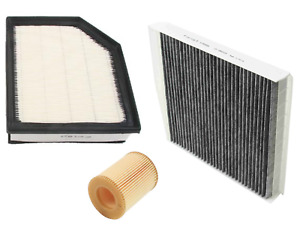 Air Filter + Oil Filter + AC Cabin Filter 39mm Carbon Volvo XC90 2007-2014