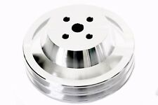 Ford 289 302 351W CNC Billet Aluminum Water Pump Pulley Double 2 Groove SBF