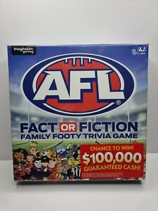 AFL Fact or Fiction Family Footy Trivia Game 2019 Imagination Gaming NEW