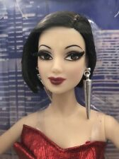 The Barbie Look City Shine Raven Hair Doll  2014 New NRFB Mattel  Red Shiny top