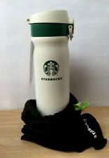 500 ML THAILAND STARBUCKS STAINLESS STEEL THERMAL FLASK  TUMBLER WHITE COLOR