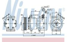 NISSENS Compresor, aire acondicionado RENAULT MEGANE SC?NIC NISSAN KIA 89064