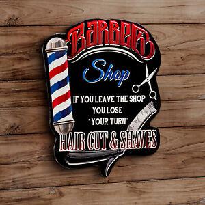 Vintage Blechschild Barber Shop 2.Wahl Friseur Werbung 38 x 30 cm