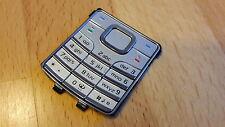 NEUE & ORIGINALE Tastatur / Keypad für Nokia 6500 classic in silber