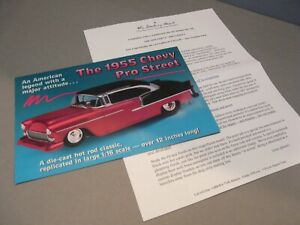 BROCHURE ONLY(NO CAR)-1/16-DANBURY MINT-1955 CHEVROLET CHEVY BEL AIR PRO STREET