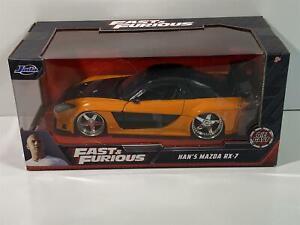 Fast and Furious Han's Mazda RX-7 Orange Black 1:24 Jada 30732