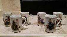 norman rockwell mugs 1982 set of 6