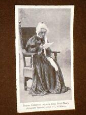Attrice di Teatro nel 1905 Elisa Berti - Masi in Donna Aldegrina