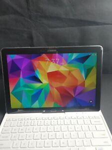 Black Samsung Galaxy Pro 12.2 tablet w/White Keyboard Case/Stand