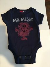 "Baby Gap Navy Blue ""Mr. Messy"" One Piece Size 0-3 Months"