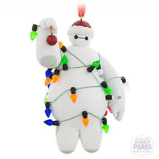Disney Parks Big Hero 6 Baymax in Christmas Lights Figurine Ornament