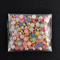 200stk Nagel Kunst Glitzersteine 3D Straßsteine Perlen-Nageldesign Nail Art Deko