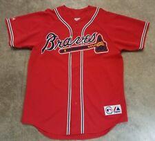 Vintage 90's MLB Atlanta BRAVES Majestic JERSEY Red Sewn USA Baseball Rare