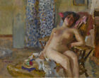 Pierre Bonnard Seated Nude With Flowers In Her Hair Canvas Print 16 x 20 #7026