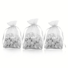 "5.5""x9.5"" Silver Organza Gift Wrap Party Favor Product Packaging Goodie Bag Bulk"