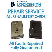 Repair Service For All Renault Key Cards - Laguna, Megane, Espace, Scenic, Clio