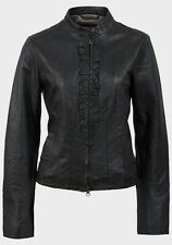 Ladies PEPPERBERRY Frill Front Real Leather Biker Jacket Bravissimo Sizes 10-18