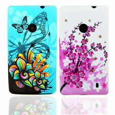 2X Rubber Gel TPU Silicone Back Protective Case Cover Skin For Nokia Lumia 520