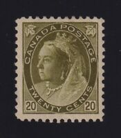 Canada Sc #84 (1900) 20c olive green Numeral Mint VF H